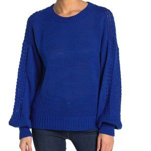 Nordstrom Abound blue sweater small